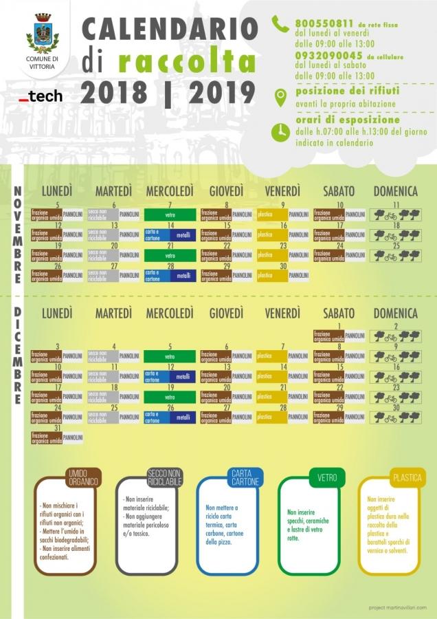 Calendario Raccolta Differenziata Vittoria Rg.Durante Le Feste Resta Invariato Il Calendario Della